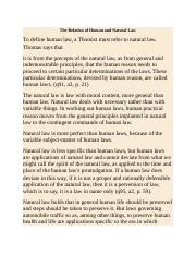 The Relation of Human and Natural Law.docx