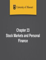 Ch 23 - Stock Markets and Personal Finance-Canvas-1.pptx