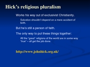 PhilRel - notes - day20-hick-pluralism