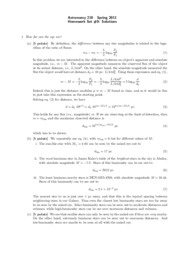 Astro 210 Homework 9 Solutions