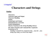 Ch. 11: Characters and Strings