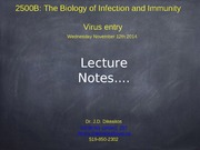 Lecture 11 Virology Lecture 5
