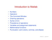 5. Intro to Matlab