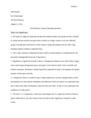 world history thesis statements 9a thesis statement examples for ancient civilizations in world history three 9a thesis statements for important people in world history.