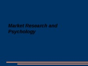 Market Research and Psychology