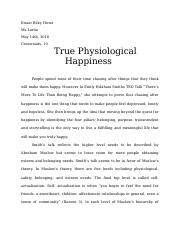 True Physiological Happiness response paper.docx