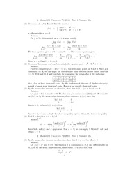 2010 Calculus Test 2