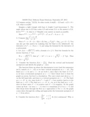 Midterm Exam Solutions 1