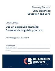CHCECE009 -Knowledge Assessment V1 (MAR 2019).docx