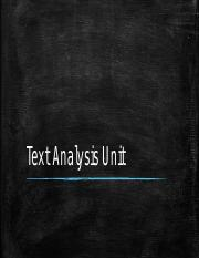 Text Analysis Unit Powerpoint(5)