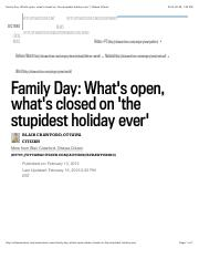Family Day: What's open, what's closed on 'the stupidest holiday ever' | Ottawa Citizen.pdf
