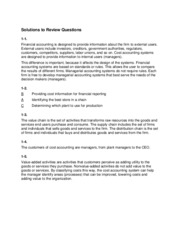 Solutions to Review Questions CH 1-8