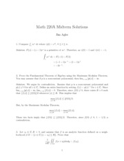 Math 220A Midterm (2) Solutions