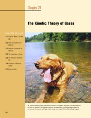 21 - The Kinetic Theory of Gases