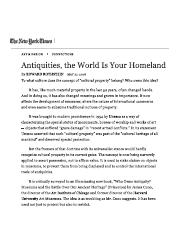 Antiquities, the World Is Your Homeland...pdf