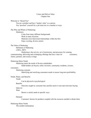 Principles of Marketing Notes (Chapter 1)