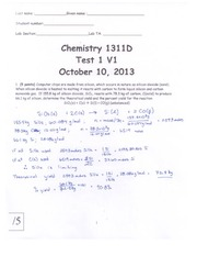 CHM Test 1 Solutions