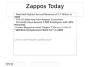 Zappos Today