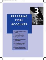 preparing final accounts