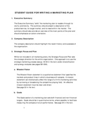 BUSN 319 Marketing Plan Student Guide
