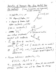 Derivation of L Eqs