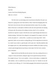 readingresponse criticism essay Reader response is a school of literary criticism that ignores both the author and the text's contents, confining analysis to the reader's experience when reading a.