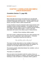 Lecture 18 correlation and simple linear regression