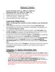 Module 2 Notes - MODULE 2 NOTES Chapter 2 Near Eastern Art
