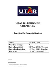 Organic chemistry lab report 4 (partial).docx