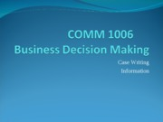 COMM 1006 case writing
