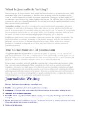 What Is Journalistic Writing.doc