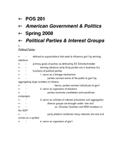 POS 201 Political Parties and IGs