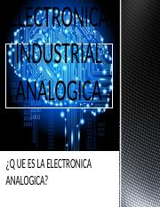 ELECTRONICA INDUSTRIAL ANALOGICA