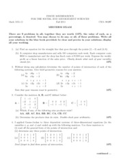 PRactice Midterm-Fall 2011 with Solutions