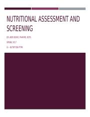16 Nutritional Assessment and Screening Boire.pptx