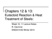 2120 - Week 10 - Ch12-13 - Heat Treatment of Steels