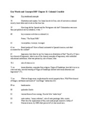 BBF_Ch_2_Colonial Study Guide