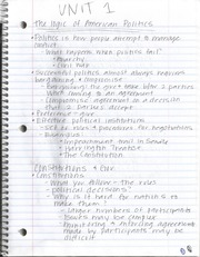 The Logic of American Politics Notes