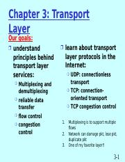 UNIT - IV - Transport layer