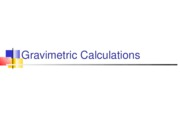 gravimetric calculations and titrations