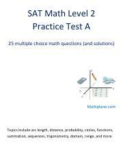 Sat math 2 practice test pdf