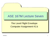 ASE 167M - Lecture 7