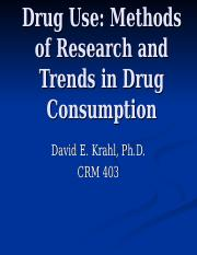 Drug Use - Methods and Data.ppt