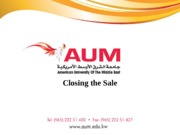 L8. Closing the sale - Copy (2).ppt