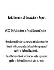 Basic Elements of the Auditor's Report(2)