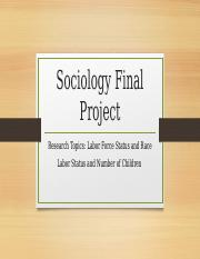 Sociology 345 Final Project