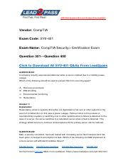Updated Lead2pass CompTIA SY0-401 Braindump Free Download (301-400).pdf