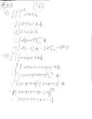 Homework Multivariable Integrals