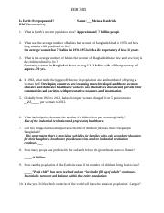 Is Earth Overpopulated BBC Documentary Worksheet Questions