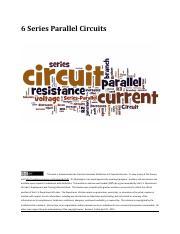 seriesCircuitProblemsWkst - Worksheet Series Circuit